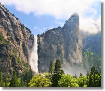 Bridalveil Fall during spring runoff