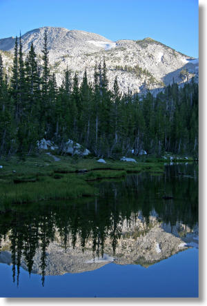 Elizabeth Lake, a Yosemite lake south of Tuolumne Meadows