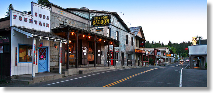Iron Door Saloon and main street Groveland, California