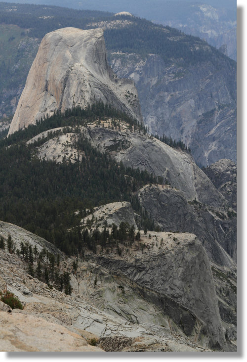 Half Dome as seen from Clouds Rest, Yosemite Park