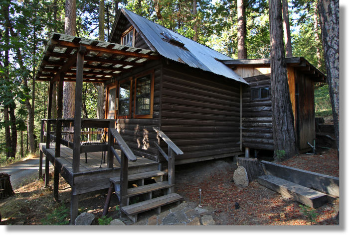 cabins house surrounded in gate cabin home park trees inside with rental s vacation national between is the yosemite treehaven