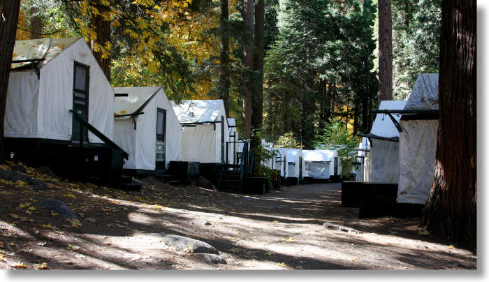 Curry village for Cabins in yosemite valley