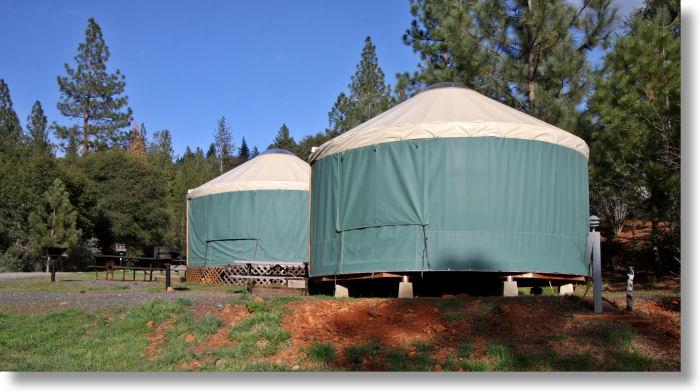 Yurts At The Yosemite Pines Rv Resort Groveland California