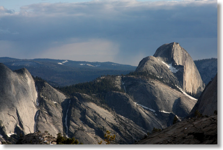 Half Dome as seen from Olmsted Point, Yosemite National Park