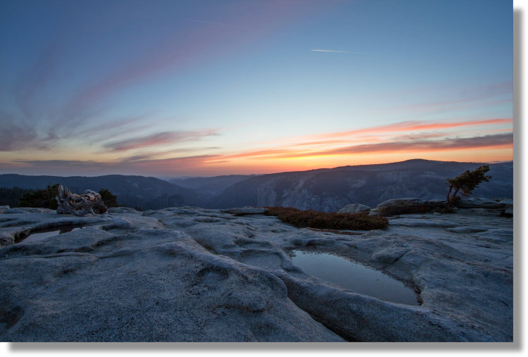 Sunset from Sentinel Dome, Yosemite Park
