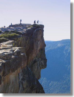 Taft Point guardrails
