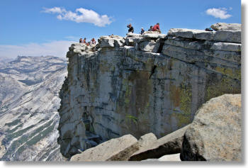 Half Dome's highest point