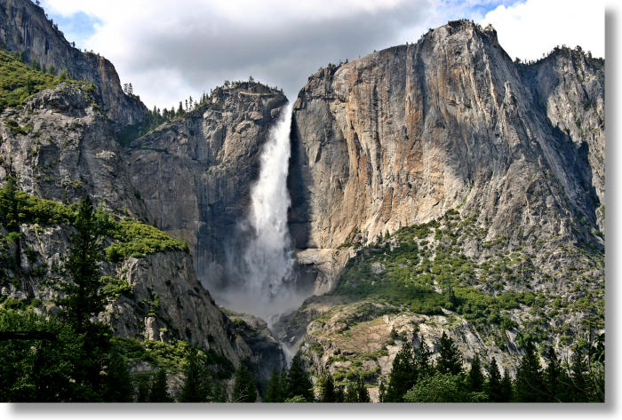 Upper Yosemite Falls during the spring runoff