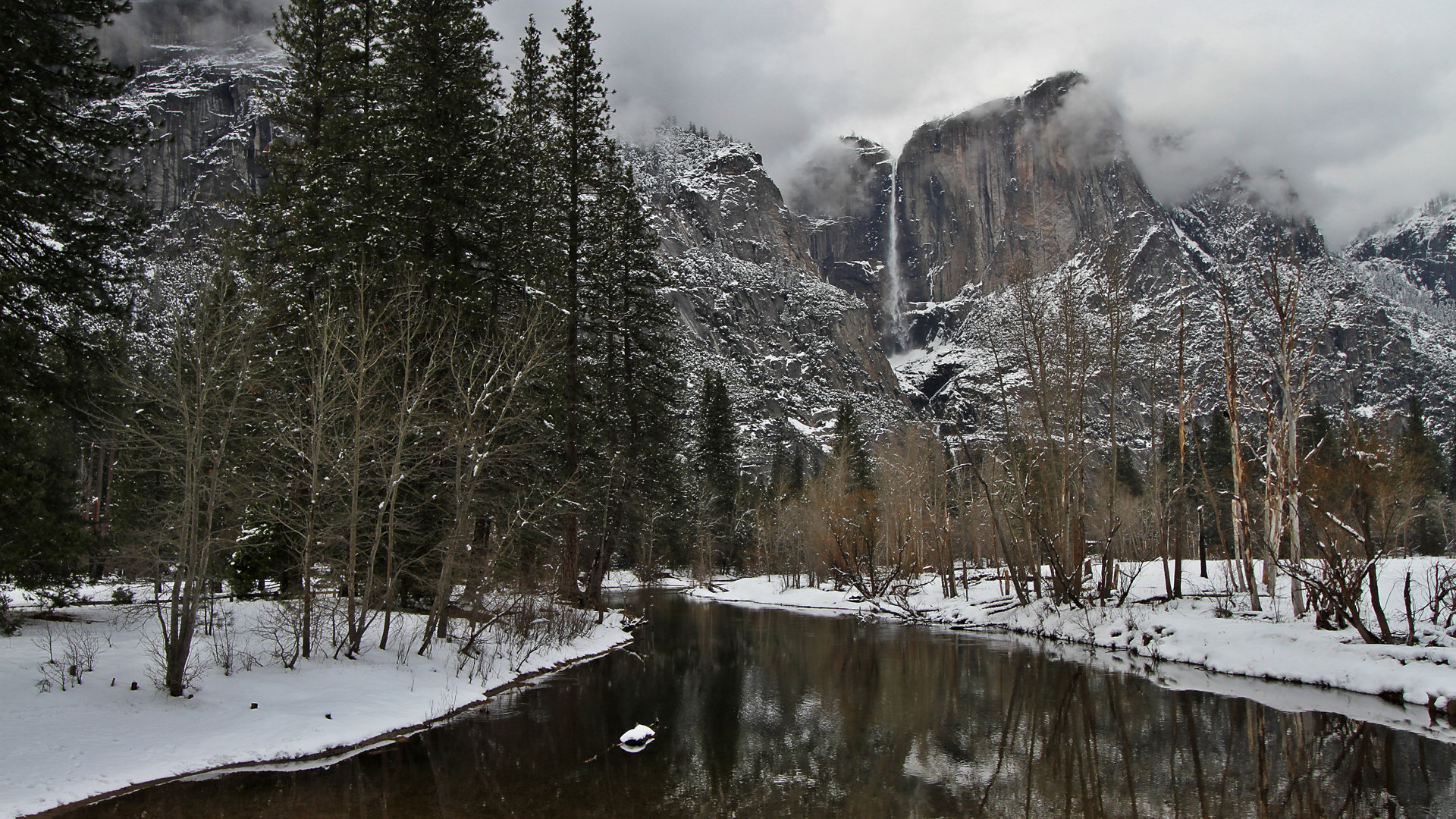 Yosemite Wallpaper The Swinging Bridge In Winter