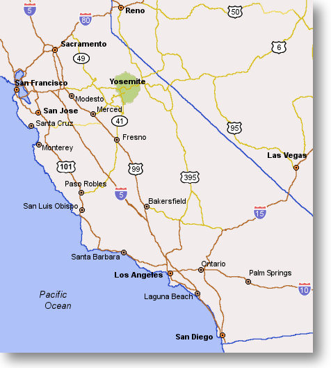 map of ontario california. map of California